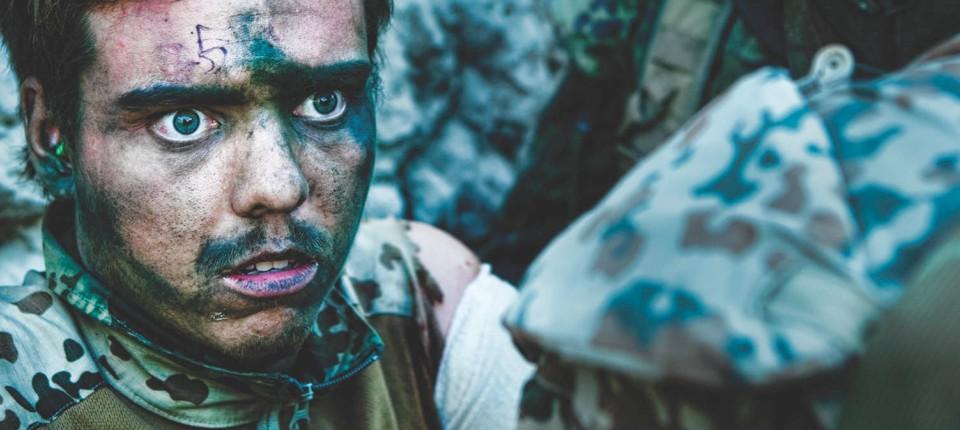 Gesicht des Krieges: Ein verwundeter dänischer Soldat